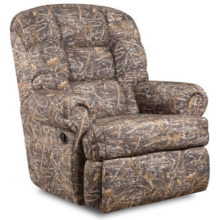 Big and Tall 350-pound Capacity Camouflaged Encore Conceal Brown Fabric Recliner