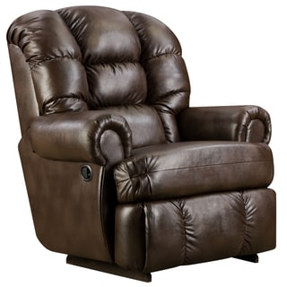 Big and Tall 350-pound Capacity Loggins Espresso Leather Recliner