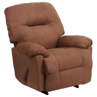 Contemporary Calcutta Chocolate Microfiber  Rocker Recliner