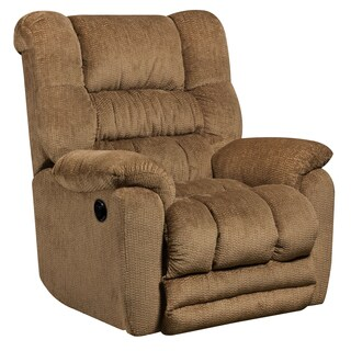 Contemporary Temptation Microfiber Power Recliner with Push Button