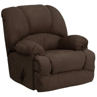 Contemporary Microfiber Chaise Rocker Recliner