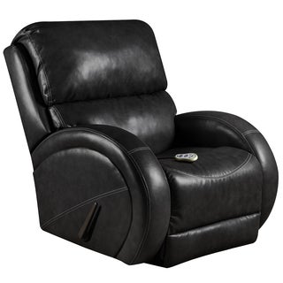Massaging Como Leather Recliner with Heat Control