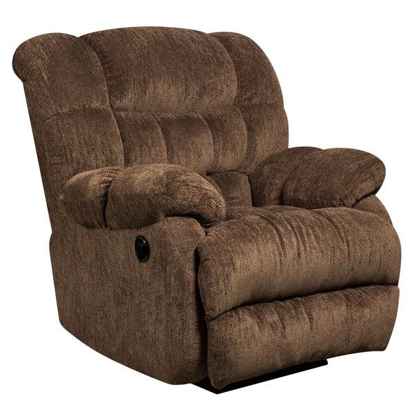 Contemporary Microfiber Power Recliner With Push Button   Free Shipping  Today   Overstock.com   17464618
