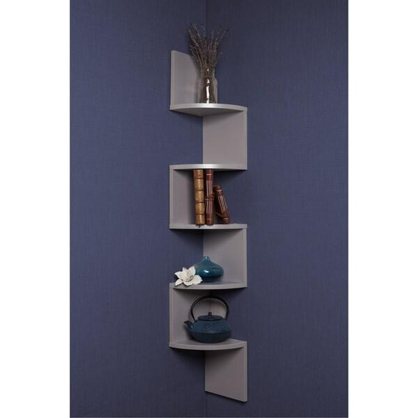 Danya b grey laminate large corner wall mount shelf free shipping on orders over 45 - Danya b corner shelf ...