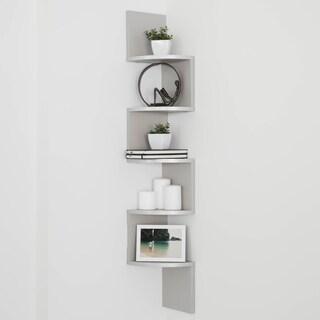 Danya B Grey Laminate Large Corner Wall-mount Shelf