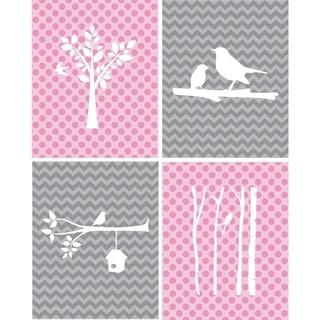 Rocket Bug Birds Nursery Wall Art Set