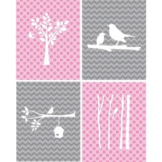 Rocket Bug Birds Nursery Wall Art Set
