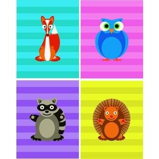 Rocket Bug Cheerful Woodland Critters Nursery Wall Art Set