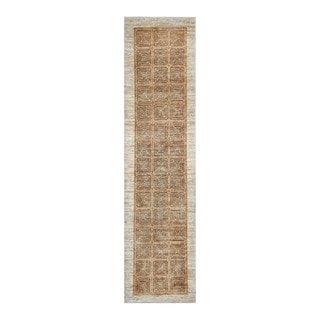 Herat Oriental Afghan Hand-Knotted Tribal Vegetable Dye Gabbeh Brown/ Rust Wool Rug (2'8 x 10'9)