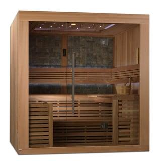 Bergen 4-6 Person Canadian Red Cedar Luxury Edition Traditional Steam Sauna