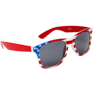 American Flag Sunglasses with Red Arms
