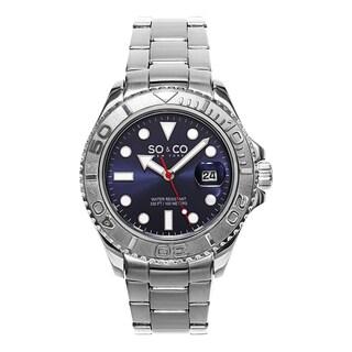 SO&CO New York Men's Yacht Club Quartz Blue Dial Stainless Steel Watch