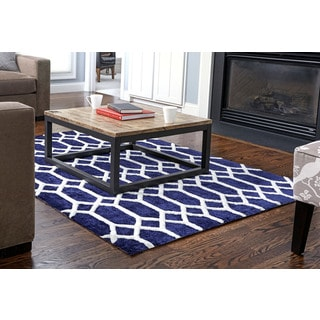 Jani Bao Blue Rayon from Bamboo Viscose Rug (8' x 10')