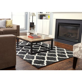 Jani Ela Grey and Ivory Rayon from Bamboo Viscose Rug (5' x 7')