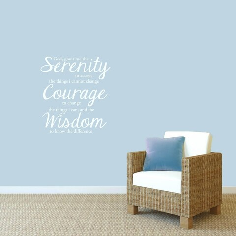 Serenity Prayer Wall Decal' 22 x 24-inch Wall Decal