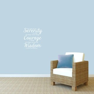 Serenity Prayer Wall Decal' 15 x 16-inch Wall Decal