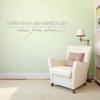 Every Good and Perfect Gift - Wall Decal - 30x8|https://ak1.ostkcdn.com/images/products/10356518/P17464841.jpg?impolicy=medium