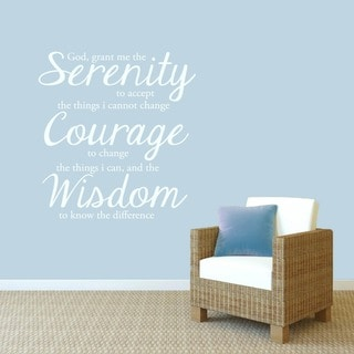 Serenity Prayer Wall Decal' 33 x 35-inch Wall Decal