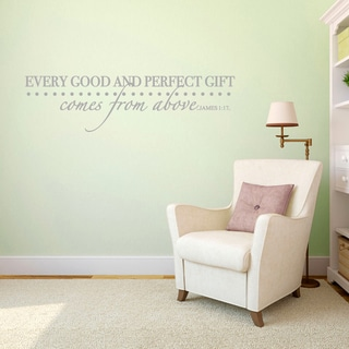 Every Good and Perfect Gift - Wall Decal - 60x16