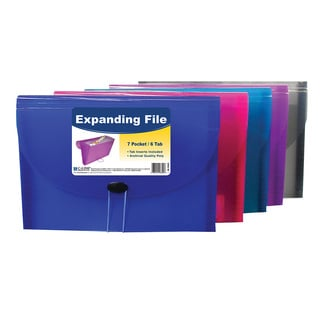 C-Line Products 7-Pocket Letter Size Expanding File (Set of 4 Files)