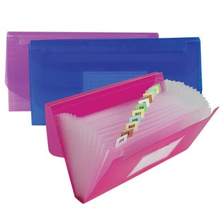 C-Line Products 13-Pocket Junior Size Expanding File (Color May Vary) (Set of 6 Files)