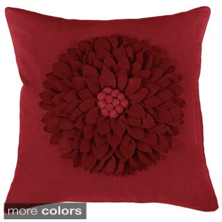 rizzy home 18inch floral throw pillow