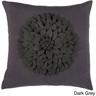 Rizzy Home 18-inch Floral Throw Pillow (Option: Dark Grey)