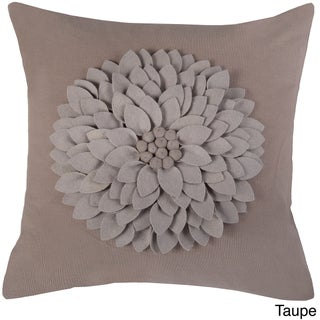Rizzy Home 18-inch Floral Throw Pillow (Option: Taupe)