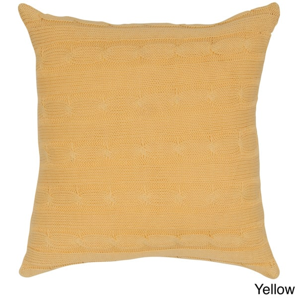 Swell Shop Rizzy Home 18 Inch Cable Knit Throw Pillow On Sale Theyellowbook Wood Chair Design Ideas Theyellowbookinfo
