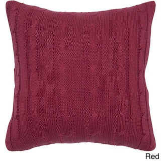 Rizzy Home 18-inch Cable Knit Throw Pillow