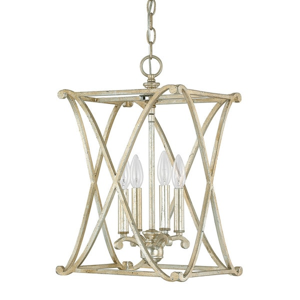 Capital Lighting Donny Osmond Alexander Collection 4-light Winter Gold Foyer Fixture/ Chandelier  sc 1 st  Overstock.com & Shop Capital Lighting Donny Osmond Alexander Collection 4-light ...