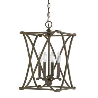 Link to Capital Lighting Donny Osmond Alexander Collection 4-light Burnished Bronze Foyer Fixture/ Chandelier Similar Items in Chandeliers