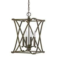 Capital Lighting Donny Osmond Home Alexander Collection Burnished Bronze Steel 4-light Foyer Fixture