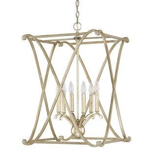 Capital Lighting Donny Osmond Alexander Collection 6-light Winter Gold Foyer Fixture/ Chandelier