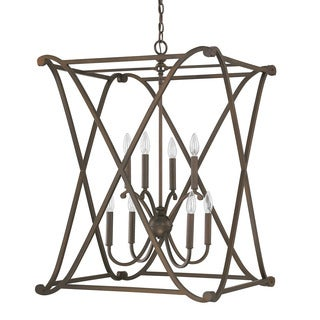 Capital Lighting Donny Osmond Alexander Collection 8-light Burnished Bronze Foyer Fixture/ Chandelier