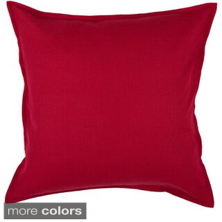 "Rizzy Home 20""x20"" Cotton Solid Throw Pillow"