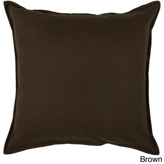 "Rizzy Home 20""x20"" Cotton Solid Throw Pillow (Option: Brown)"