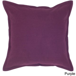 "Rizzy Home 20""x20"" Cotton Solid Throw Pillow (Option: Purple)"