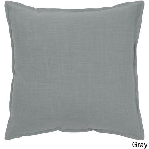 Rizzy Home Cotton Solid 20-inch Throw Pillow