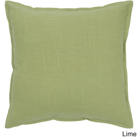 Rizzy Home Cotton Solid 20 Inch Throw Pillow