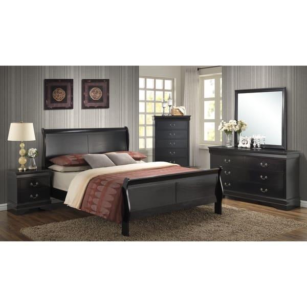 Shop Picket House Bradford Black Sleigh Bed 5-piece Bedroom ...