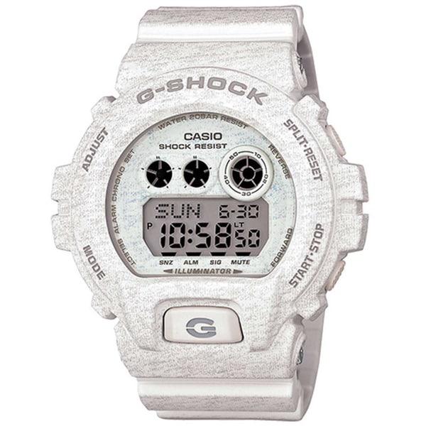 3c6a0f4246e3 Casio G-Shock Men  x27 s Heathered Digital Multi-Function Chronograph White