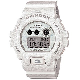 Casio G-Shock Men's Heathered Digital Multi-Function Chronograph White Resin Watch GDX-6900HT-7