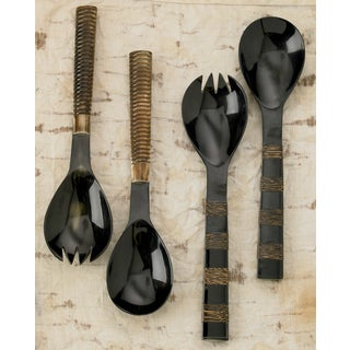 Authentic Bone and Horn Serving Set (Set of 2)