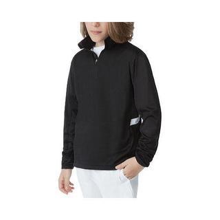 Boys' Fila Fundamental Black Half Zip Jacket