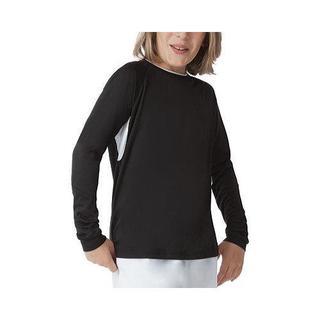 Boys' Fila Fundamental Long Sleeve Top Black/White