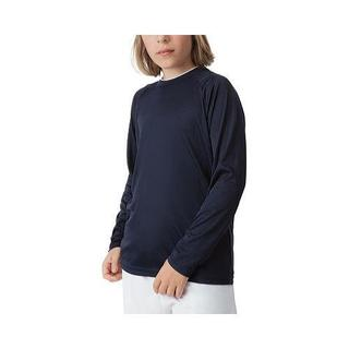 Boys' Fila Fundamental Long Sleeve Top Peacoat/White