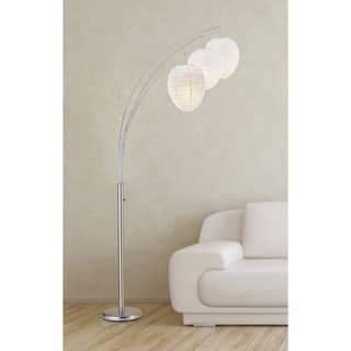 Belle Arc Satin Steel Lamp|https://ak1.ostkcdn.com/images/products/10357546/P17465743.jpg?impolicy=medium