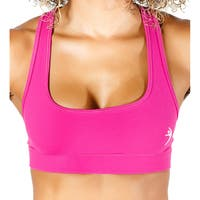 Women's Pink Compression Racerback Sports Bra