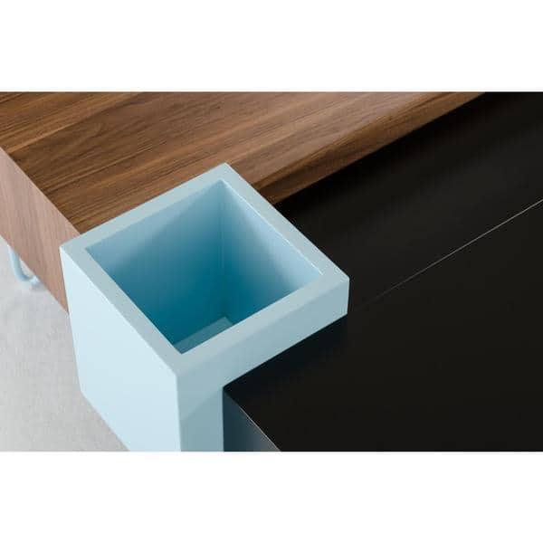 Outstanding Shop Modrest Aegean Modern Black And Walnut Coffee Table Machost Co Dining Chair Design Ideas Machostcouk